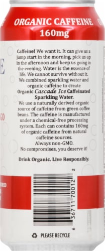 Cascade Ice Organic Pomegranate Mango Caffeinated Sparkling Water Perspective: right