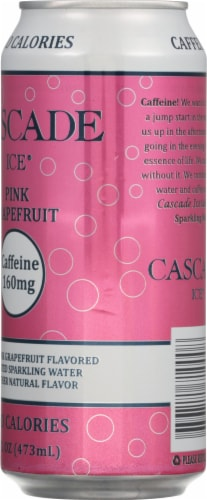 Cascade Ice Organic Pink Grapefruit Caffeinated Sparkling Water Perspective: right