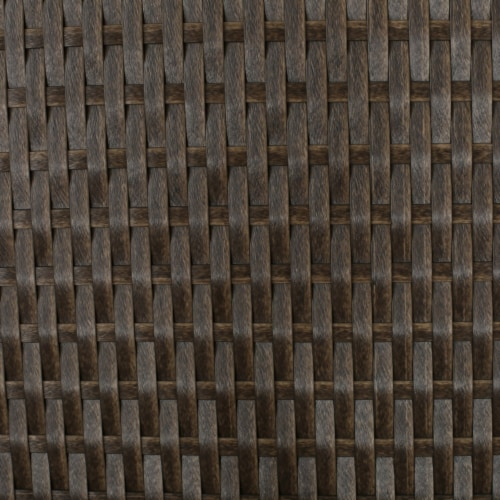 Venice Outdoor Light Brown Wicker Side Table Perspective: right