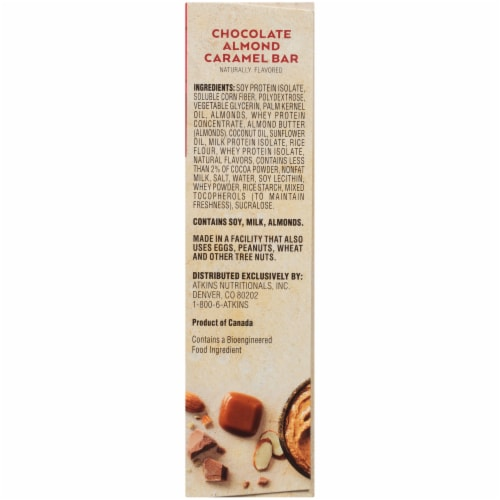 Atkins  Meal Bar   Chocolate Almond Caramel Perspective: right