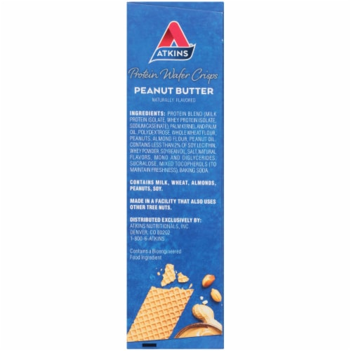 Atkins Peanut Butter Protein Wafer Crisps Perspective: right