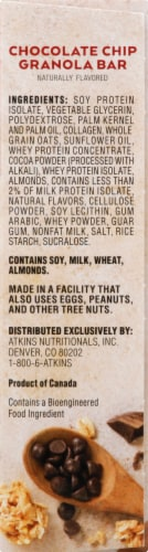Atkins Protein-Rich Chocolate Chip Granola Meal Bars Perspective: right