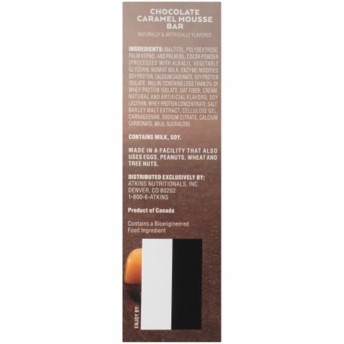 Atkins Endulge Chocolate Caramel Mousse Treat Bar 5 Count Perspective: right