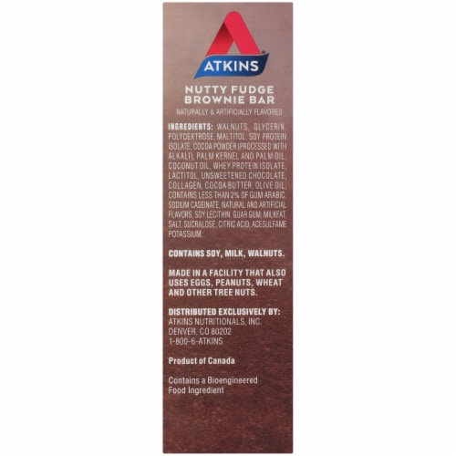 Atkins Endulge Nutty Fudge Brownie Bars 5 Count Perspective: right
