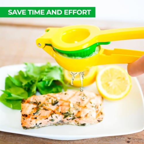 Zulay Kitchen Premium Quality Metal Lemon Lime Squeezer - Manual Citrus Press Juicer Perspective: right