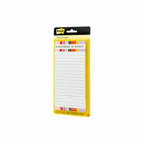 Post-it® Printed Note Pad with Magnet - 50 Sheets Perspective: right