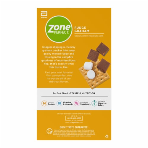ZonePerfect Fudge Graham Nutrition Bars Perspective: right