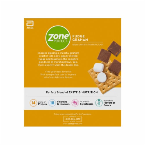 ZonePerfect Fudge Graham Bars Protein Bars Perspective: right