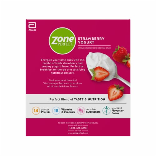 ZonePerfect Strawberry Yogurt Bars Protein Bars Perspective: right