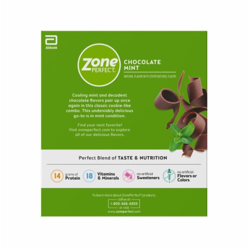 ZonePerfect Chocolate Mint Nutrition Bars Perspective: right
