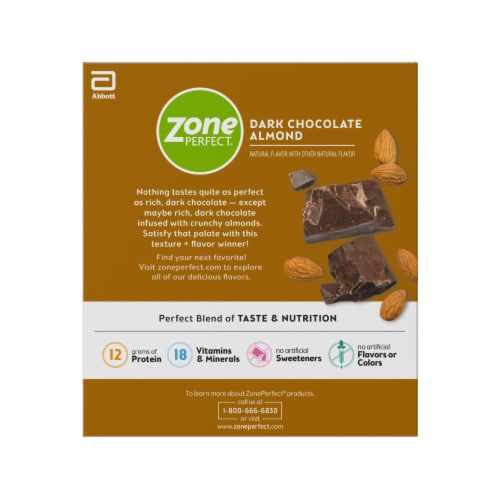 ZonePerfect Dark Chocolate Almond Nutrition Bars Perspective: right