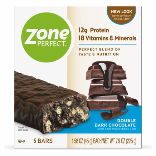 ZonePerfect® Double Dark Chocolate Protein Bars Perspective: right
