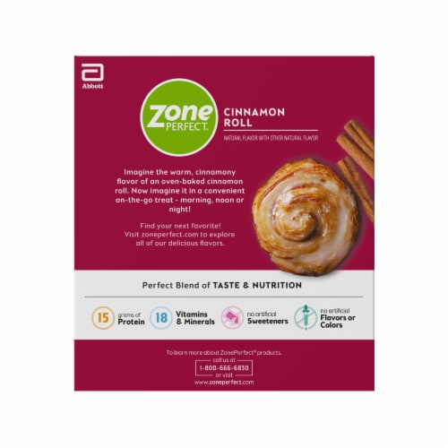 ZonePerfect® Cinnamon Roll Nutrition Bars Perspective: right