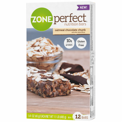 ZonePerfect Oatmeal Chocolate Chunk Nutrition Bars Perspective: right