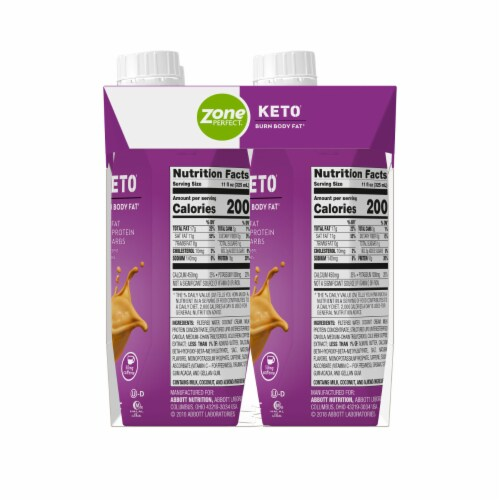 ZonePerfect Keto Butter Coffee Protein Shakes Perspective: right