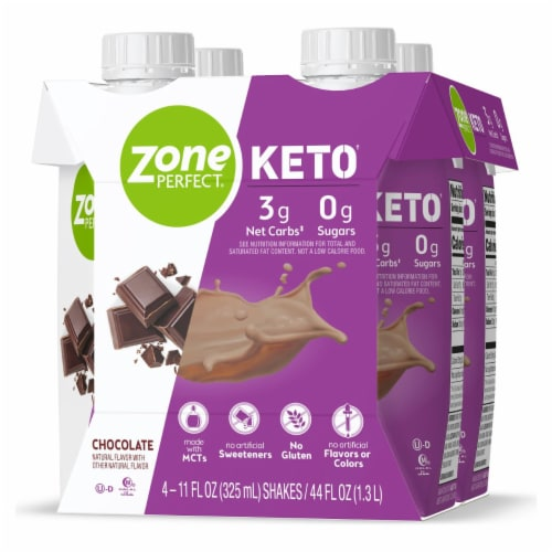 ZonePerfect Keto Chocolate Ready to Drink Shakes Perspective: right