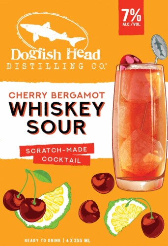 Dogfish Head Cherry Bergamot Whiskey Sour Perspective: right