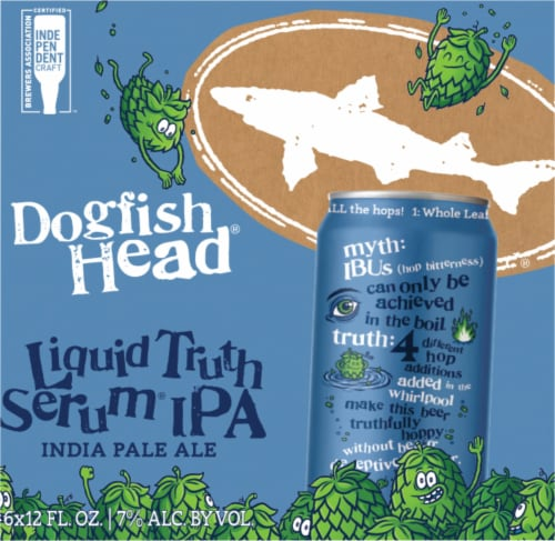 Dogfish Head Liquid Truth Serum IPA India Pale Ale Perspective: right