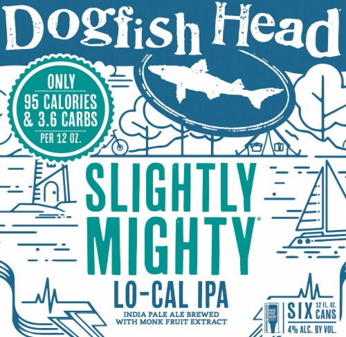 Dogfish Head Slightly Mighty IPA Beer Perspective: right