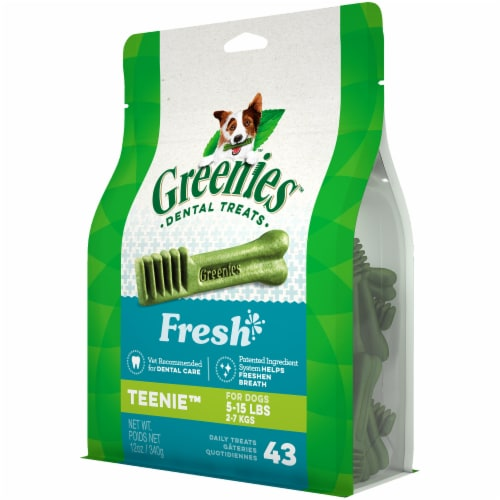 Greenies Fresh Teenie Dog Treats 43 Count Perspective: right