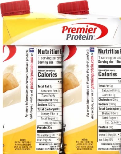 Premier Protein Bananas & Cream Shakes Perspective: right