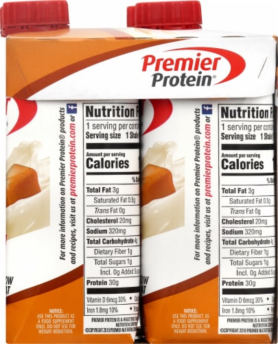 Premier Protein Caramel High Protein Shakes Perspective: right