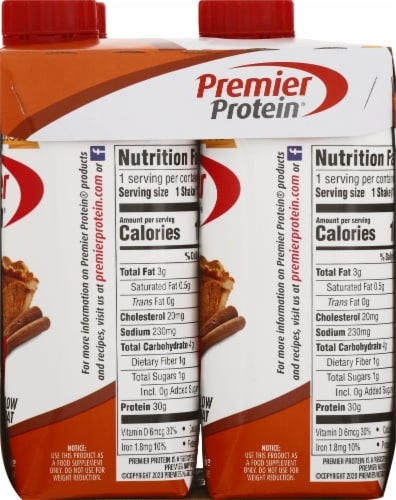Premier Protein Limited Edition Pumpkin Spice High Protein Shake Perspective: right