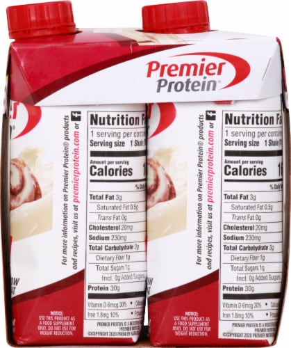 Premier Protein Cinnamon Roll Protein Shakes Perspective: right
