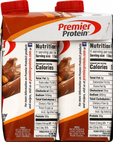 Premier Protein Chocolate Peanut Butter Protein Shakes Perspective: right