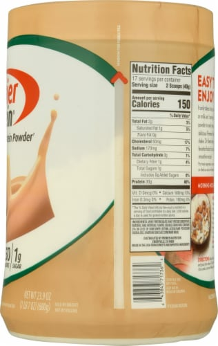 Premier Protein Cafe Latte Protein Powder 4 Count Perspective: right