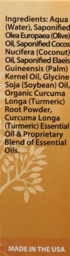 Plantlife Turmeric Herbal Soap with Turmeric Oil and Powder Perspective: right