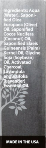 Plantlife Black Soap with Acitvated Charcoal Perspective: right