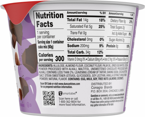 Duncan Hines Keto Friendly Double Chocolate Cake Cup Mix Perspective: right