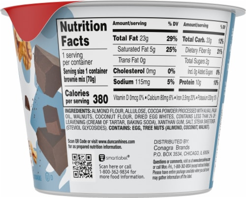 Duncan Hines Keto Friendly Walnut Fudge Brownie Cup Mix Perspective: right