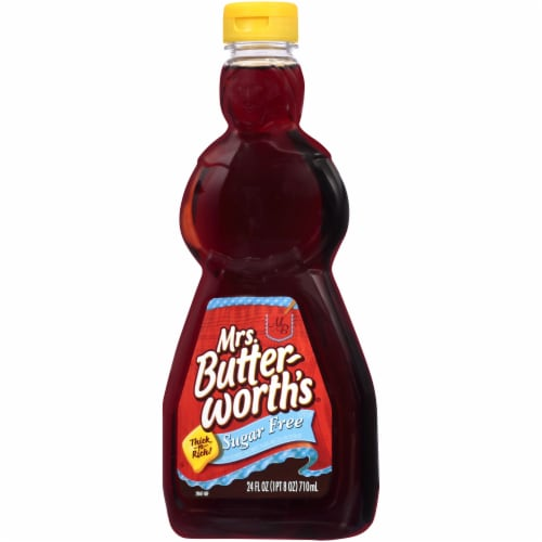 Mrs. Butterworth's Thick-n-Rich Sugar Free Syrup Perspective: right