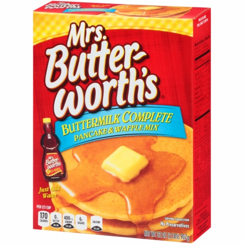 Mrs. Butterworth's Buttermilk Complete Pancake and Waffle Mix Perspective: right