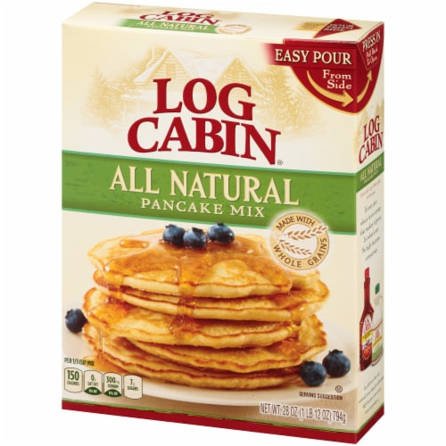 Log Cabin All Natural Pancake Mix Perspective: right