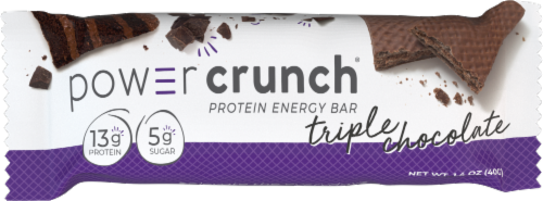 Power Crunch® Triple Chocolate Protein Energy Bar Perspective: right