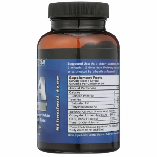 Pure Advantage CLA Conjugated Linoleic Acid Softgels 1000mg Perspective: right