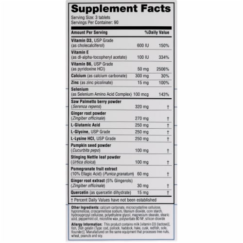 Real Health Prostate Formula with Saw Palmetto Tablets Perspective: right