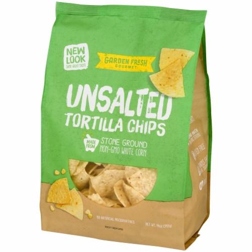 Garden Fresh Gourmet Unsalted White Corn Tortilla Chips Perspective: right