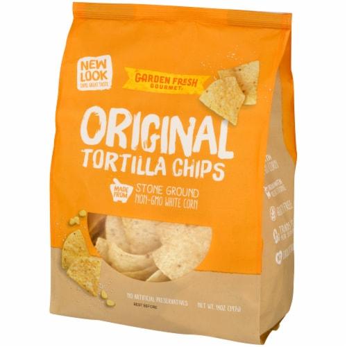 Garden Fresh Gourmet Original White Corn Tortilla Chips Perspective: right