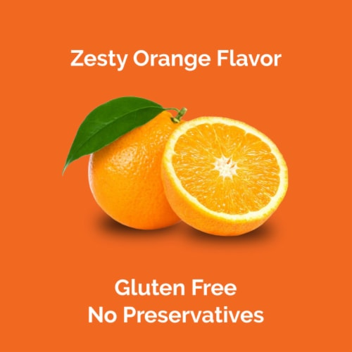 Airborne Zesty Orange Vitamin C 1000mg Immune Support Supplement Effervescent Tablets Perspective: right