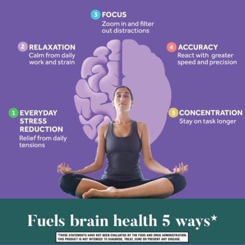 Neuriva® De-Stress Brain Performance Supplement Vegetarian Capsules Perspective: right