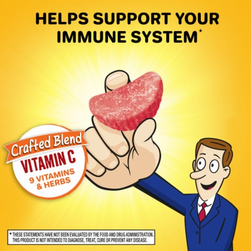Airborne Assorted Fruit Vitamin C Immune Support Supplement Gummies 750mg Perspective: right