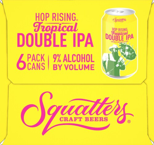Squatters Hop Rising Tropical Double IPA Perspective: right