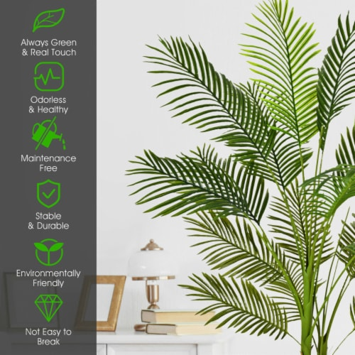 Gymax 5Ft Artificial Phoenix Palm Tree Plant for Indoor Home Office Decoration Perspective: right