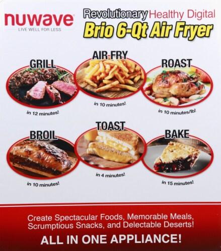 NuWave Brio Digital Air Fryer - Black Perspective: right