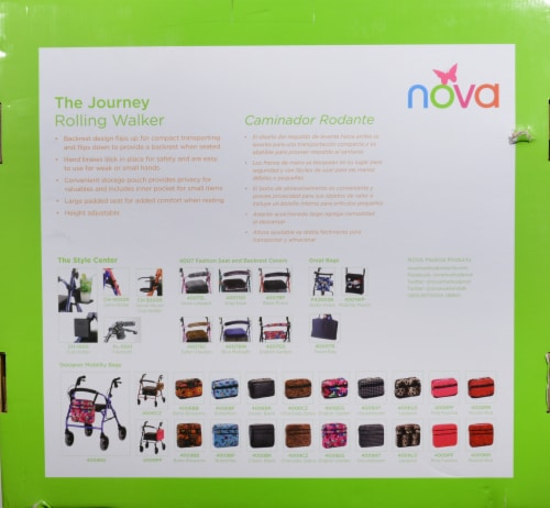 Nova Journey Rolling Walker - Blue Perspective: right