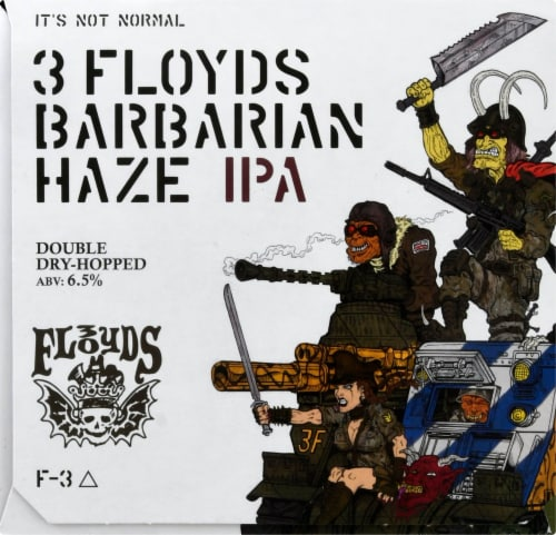Three Floyds Brewing Barbarian Haze IPA Perspective: right